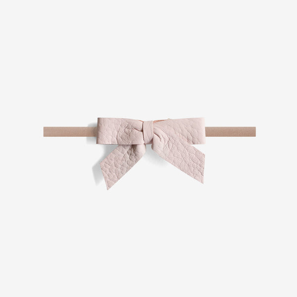 Anne Leather Bow Headband - Gloss