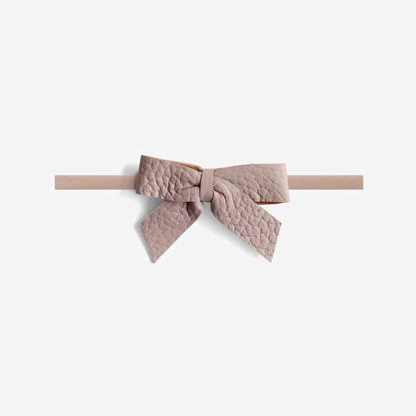 Anne Leather Bow Headband - Meadow
