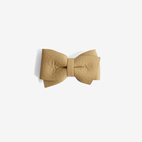 Blaire Petite Leather Bow Clip - Maple