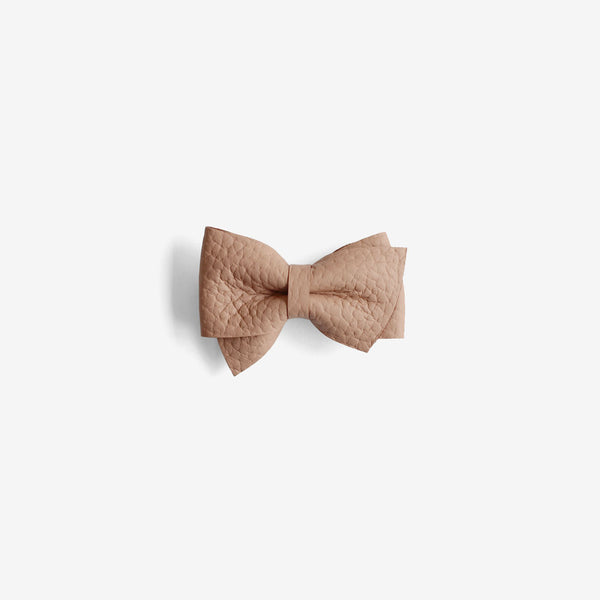 Blaire Petite Leather Bow Clip - Earth