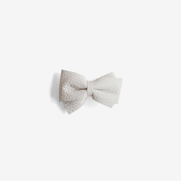 Blaire Petite Leather Bow Clip - Chill