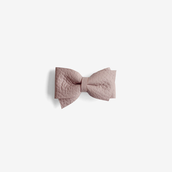 Blaire Petite Leather Bow Clip - Meadow