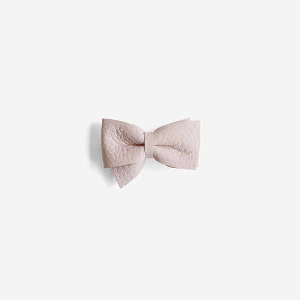 Blaire Petite Leather Bow Clip - Gloss