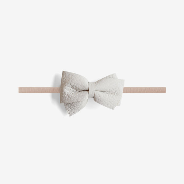 Blaire Petite Leather Bow Headband - Chill