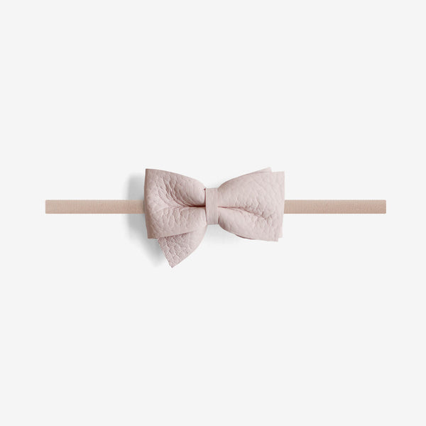 Blaire Petite Leather Bow Headband - Gloss