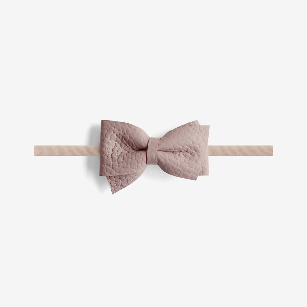 Blaire Petite Leather Bow Headband - Meadow
