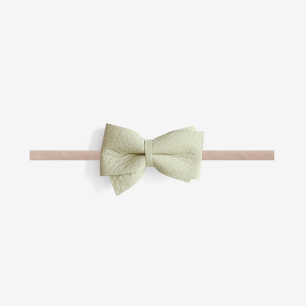 Blaire Petite Leather Bow Headband - Spray