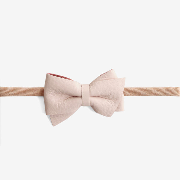 Blaire Petite Leather Bow Headband - Magnolia