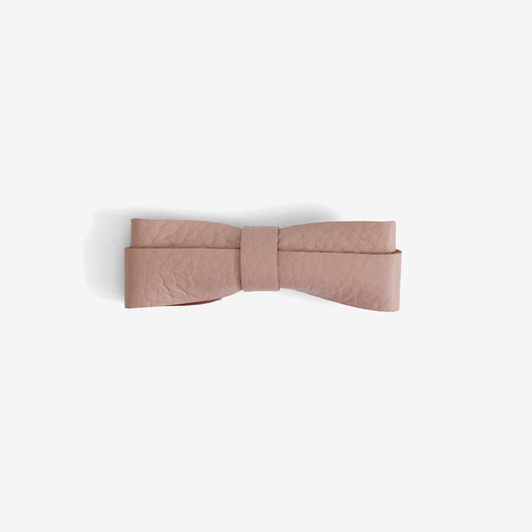 Frankie Leather Bow Clip - Bloom