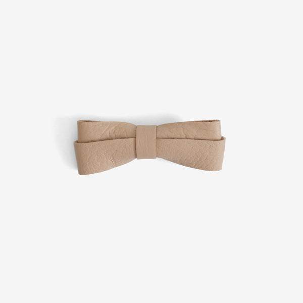 Frankie Leather Bow Clip - Horizon