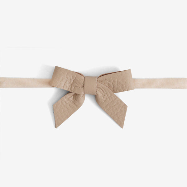 Anne Leather Bow Headband - Horizon