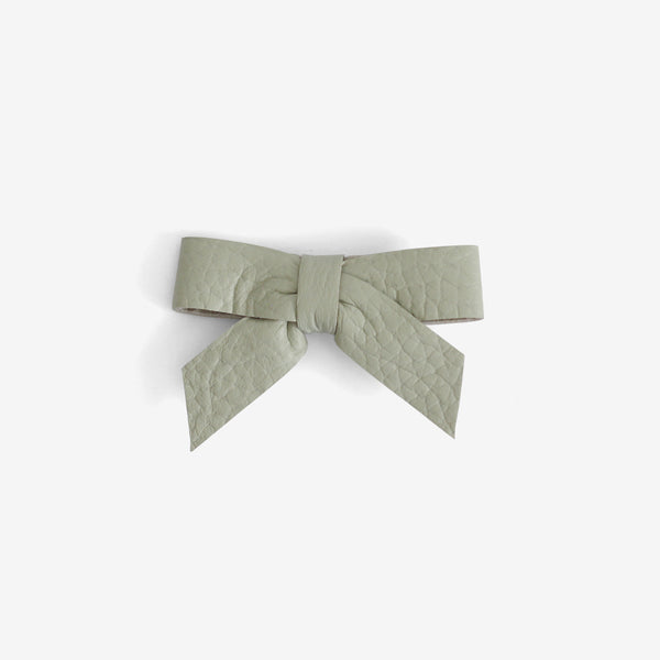 Anne Leather Bow Clip - Fresh