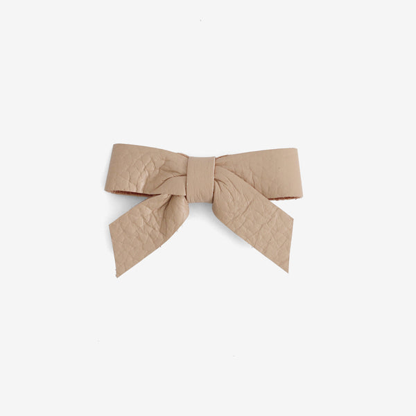 Anne Leather Bow Clip - Horizon