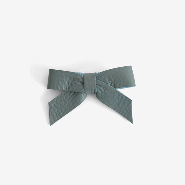 Anne Leather Bow Clip - Dawn