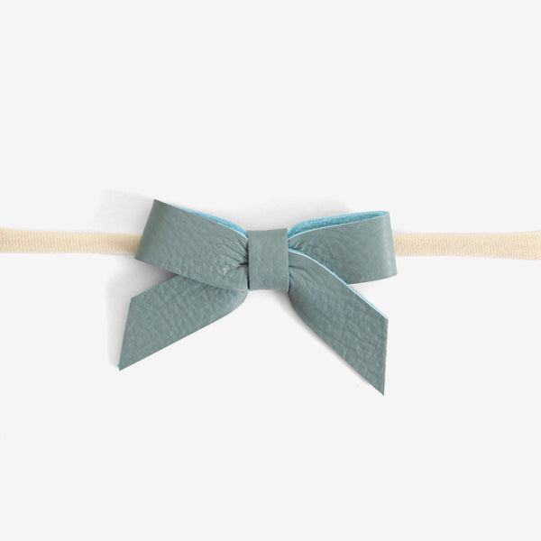 Anne Leather Bow Headband - Dawn