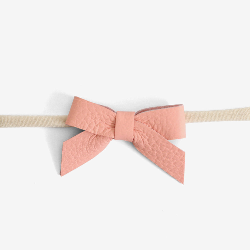 Anne Leather Bow Headband - Luminance