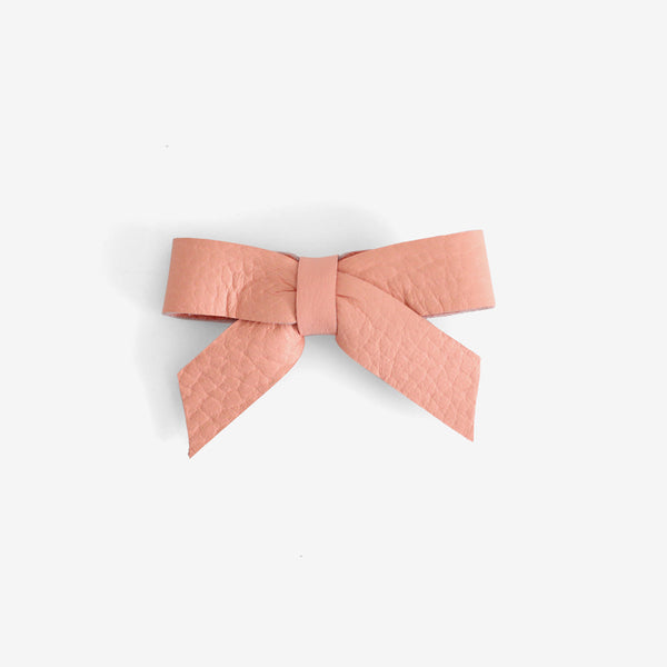 Anne Leather Bow Clip - Luminance