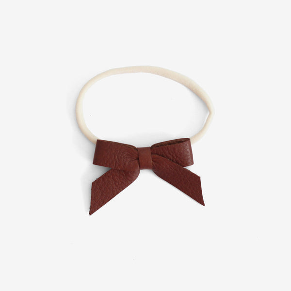 Anne Leather Bow Headband - Ochre