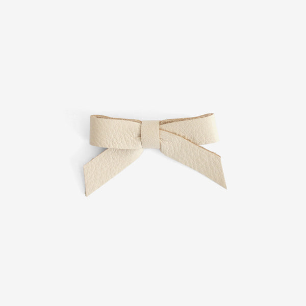 Anne Leather Bow Clip - Yucca