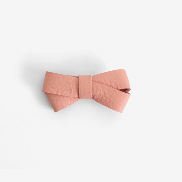 Kylie Leather Bow Clip - Luminance