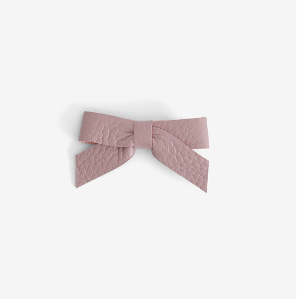 Anne Leather Bow Clip - Thistle
