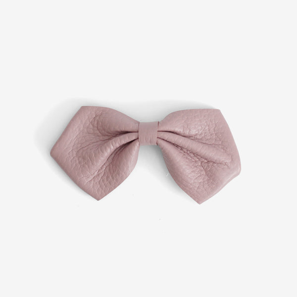 Harlowe Slouchy Leather Bow Clip - Thistle