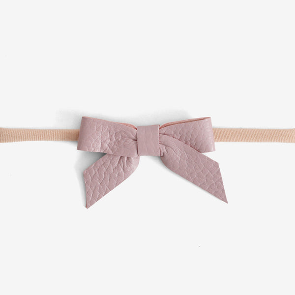 Anne Leather Bow Headband - Thistle