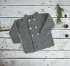 Moss Stitch Coat - Pewter