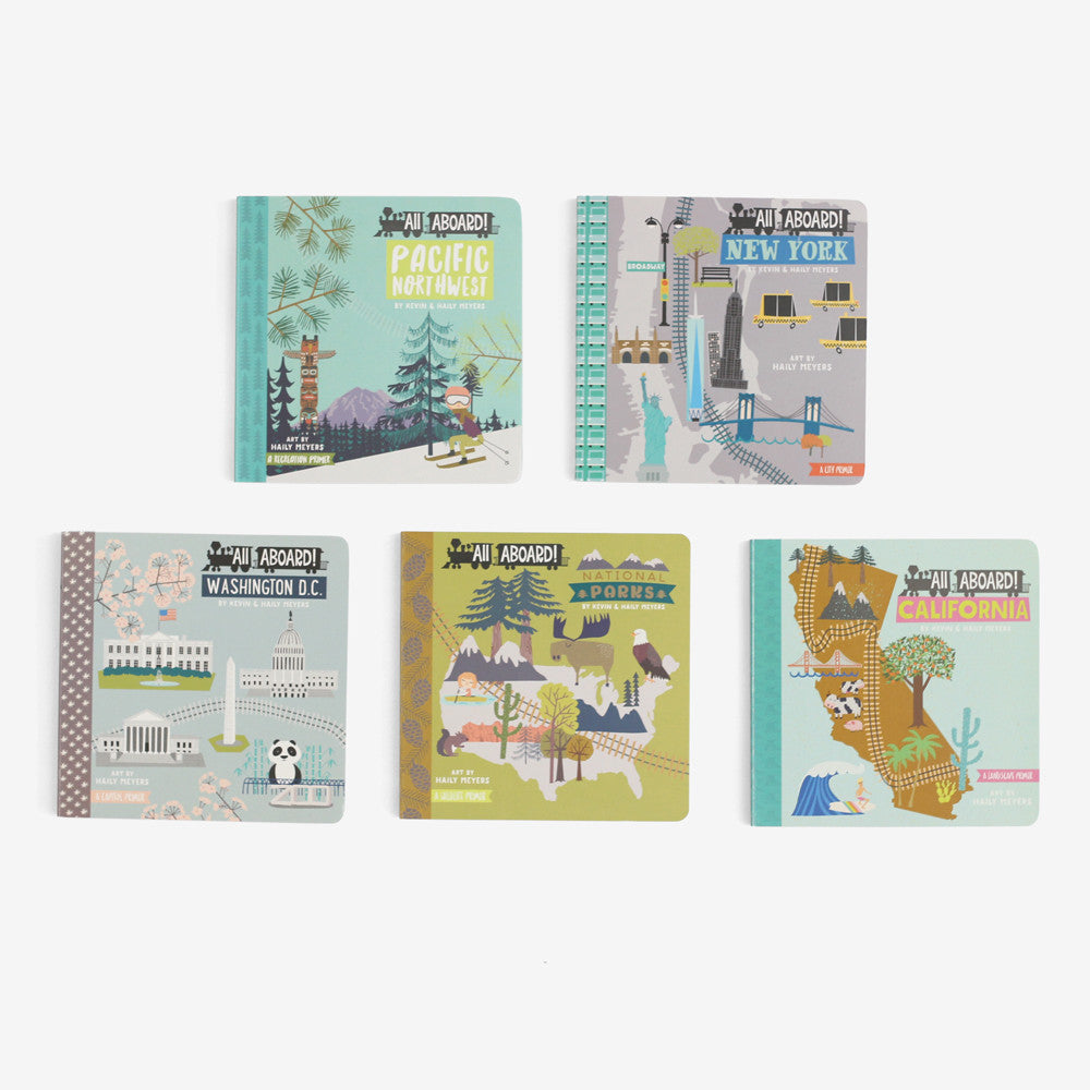 All Aboard! USA Board Books 5 Title Set