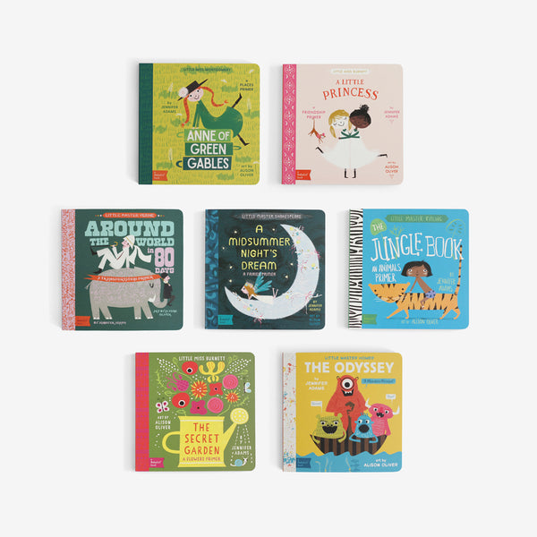 BabyLit Board Book Library Set of 7