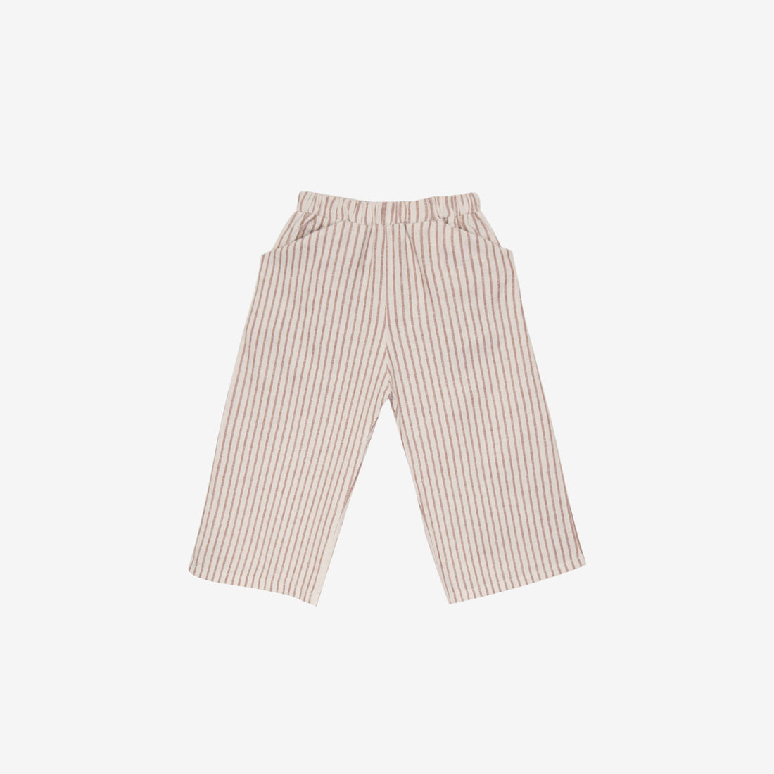 Organic Broadcloth Culotte - Hazelnut Stripe