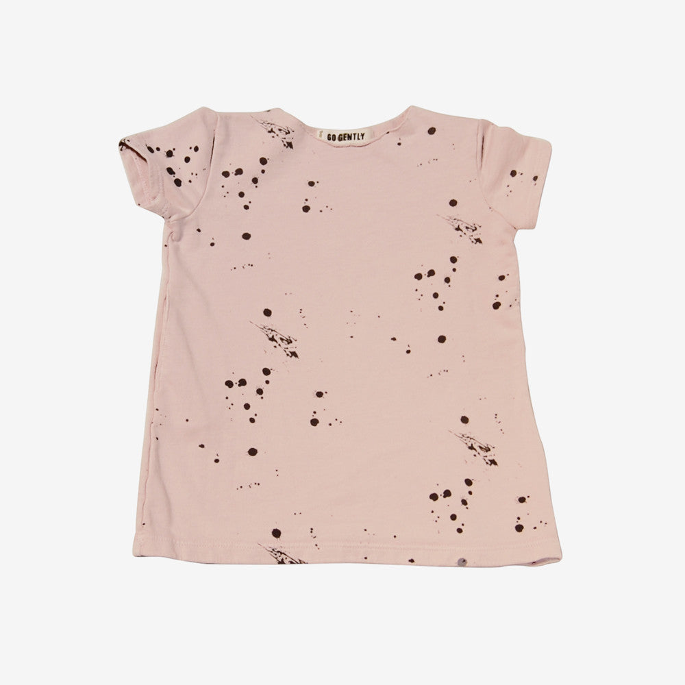 French Terry Frock - sand splatter