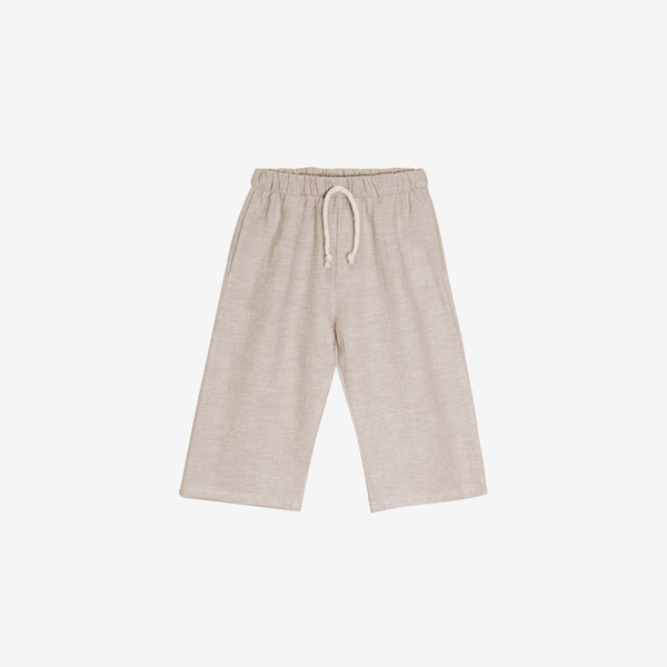 Organic Broadcloth Lawn Pant - Wheat