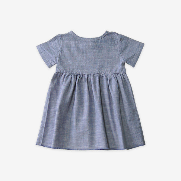 Organic Chambray S/S Prairie Dress