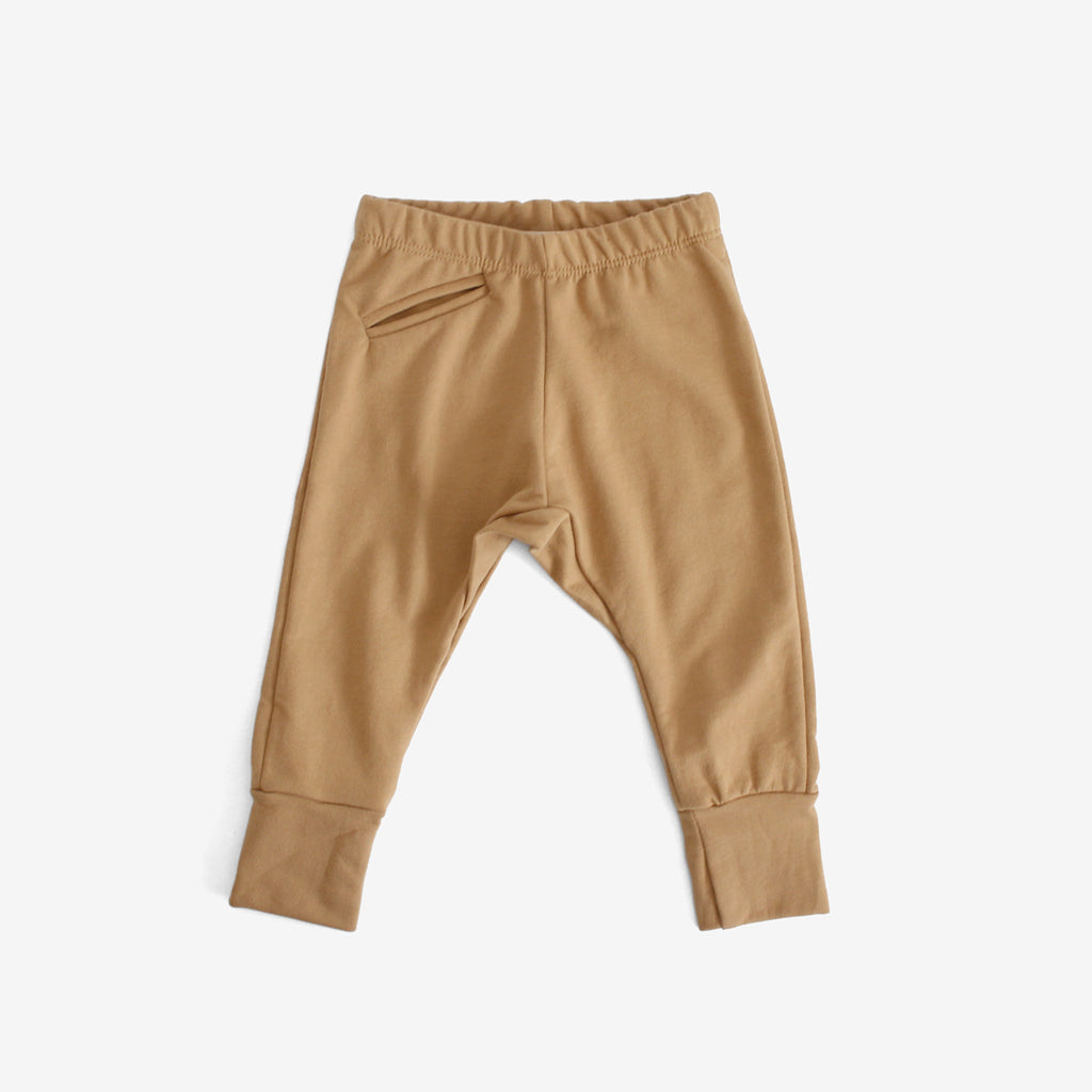 Organic French Terry Jogger - Flax