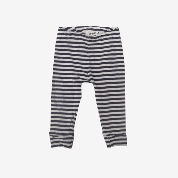 Organic Pencil Pant in Navy Stripe