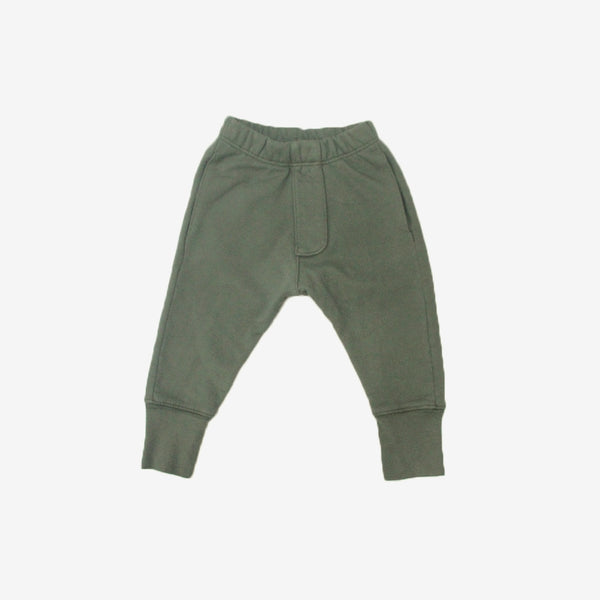 Organic Terry Pocket Trousers - Military