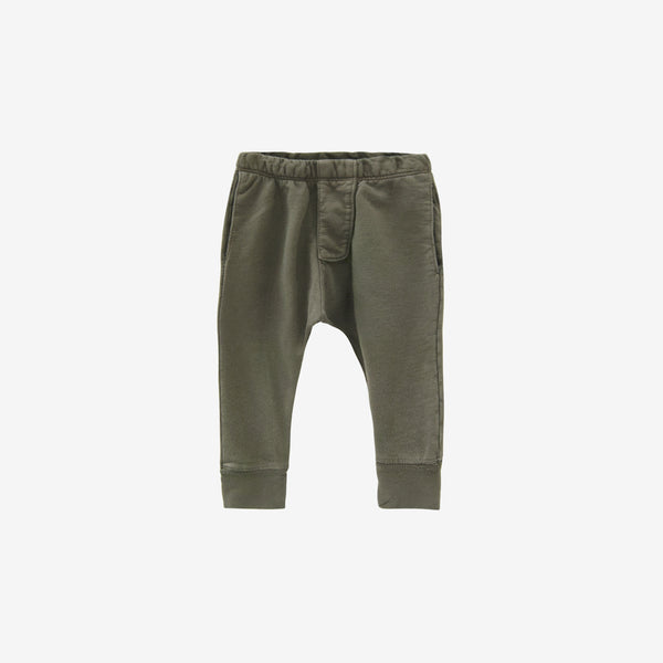 Organic French Terry Pocket Trousers - Moss