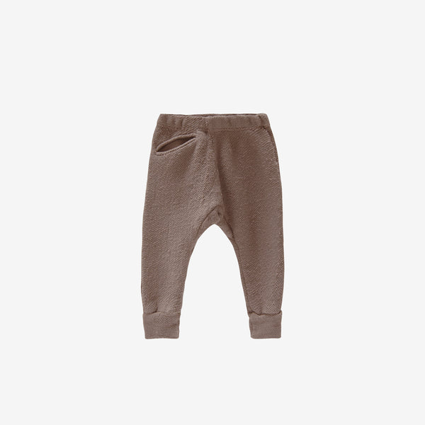 Organic Textured Terry Jogger - Mud