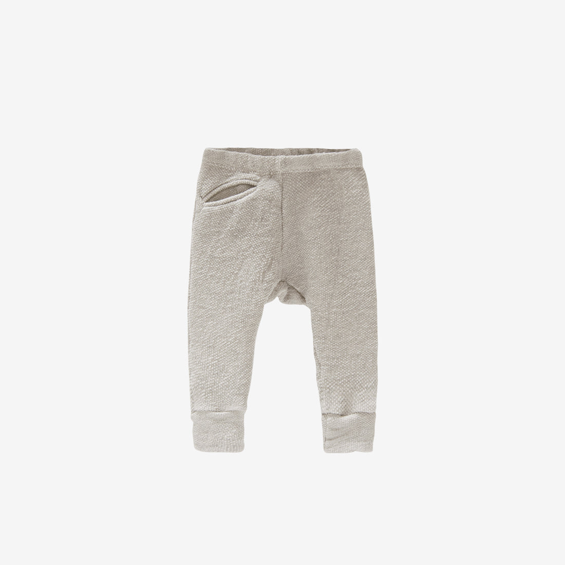 Organic Terry Textured Baby Jogger - Natural