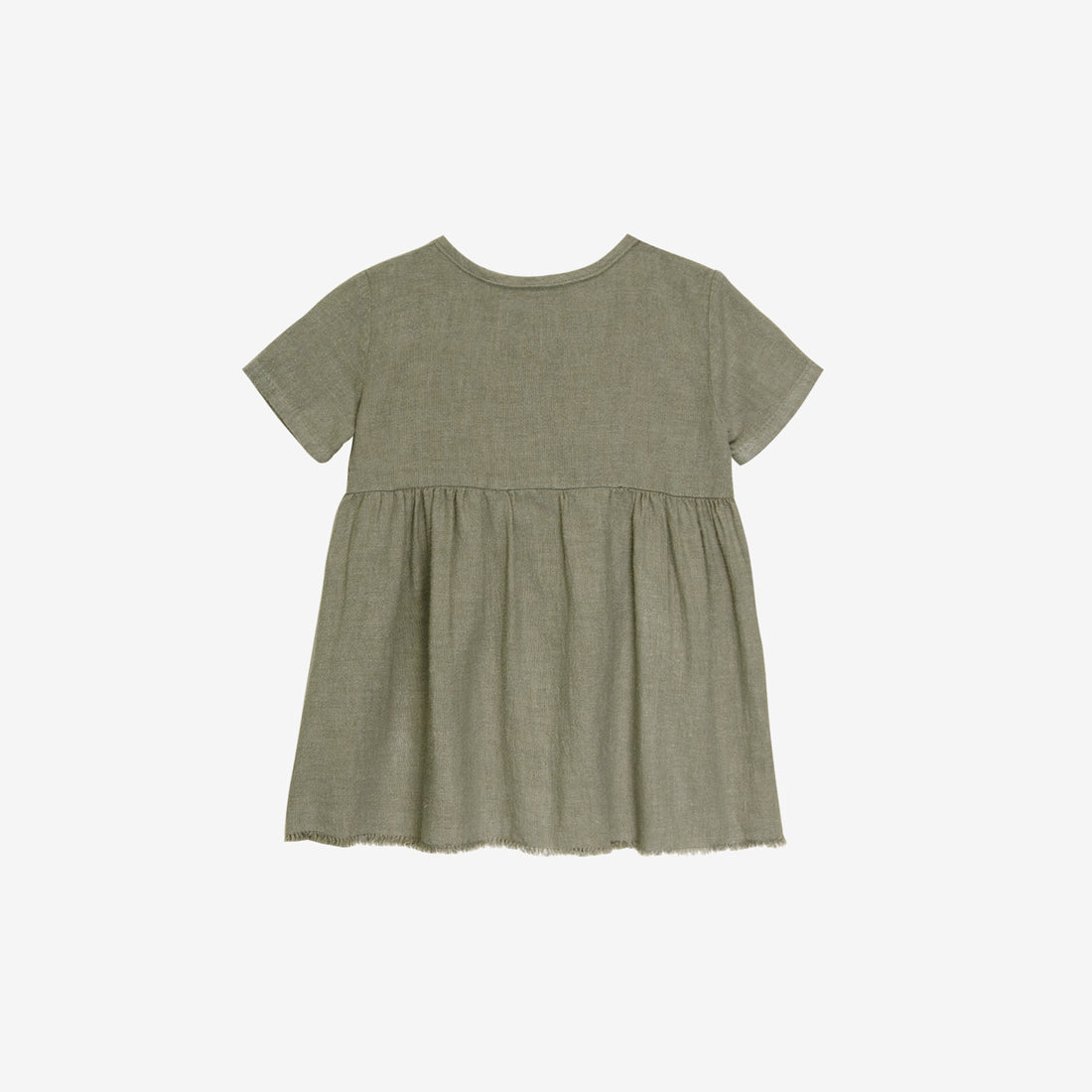 Organic S/S Prairie Dress - Thyme