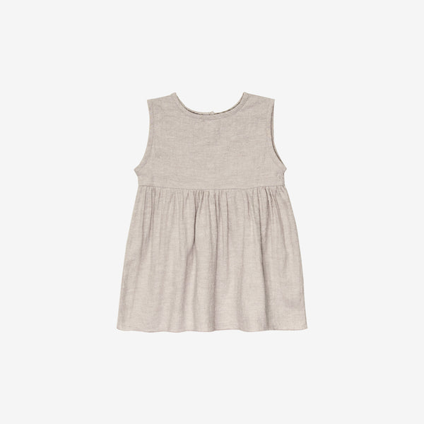 Organic Broadcloth Prairie Tank Dress - Wheat