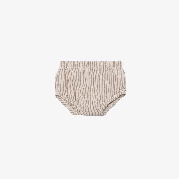 Organic Broadcloth Bloomer Short - Hazelnut Stripe