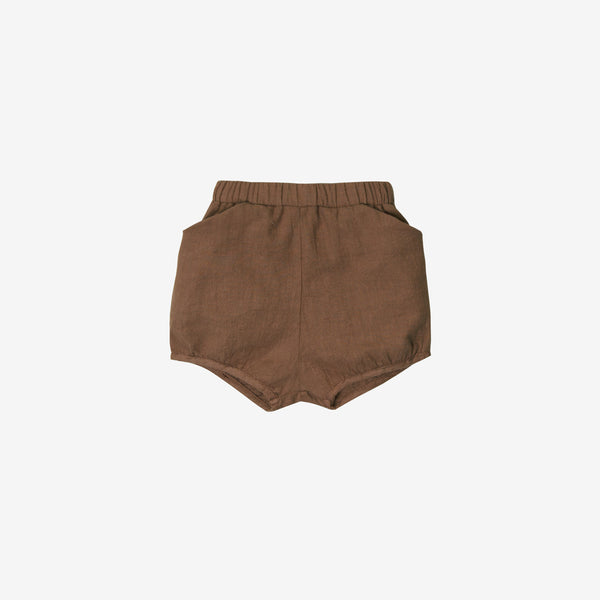 Organic Broadcloth Pocket Short - Hazelnut
