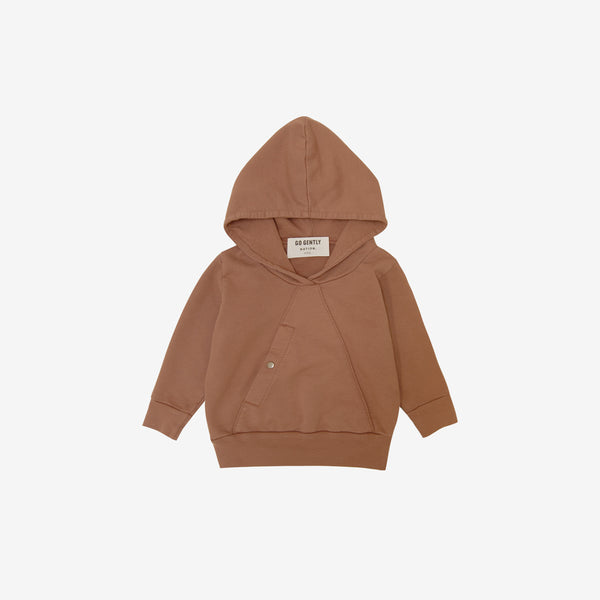 Organic French Terry Mountain Top Hoodie - Clay