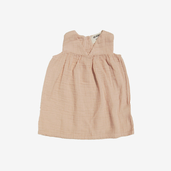 Organic Empire Gauze Dress - Desert Pink