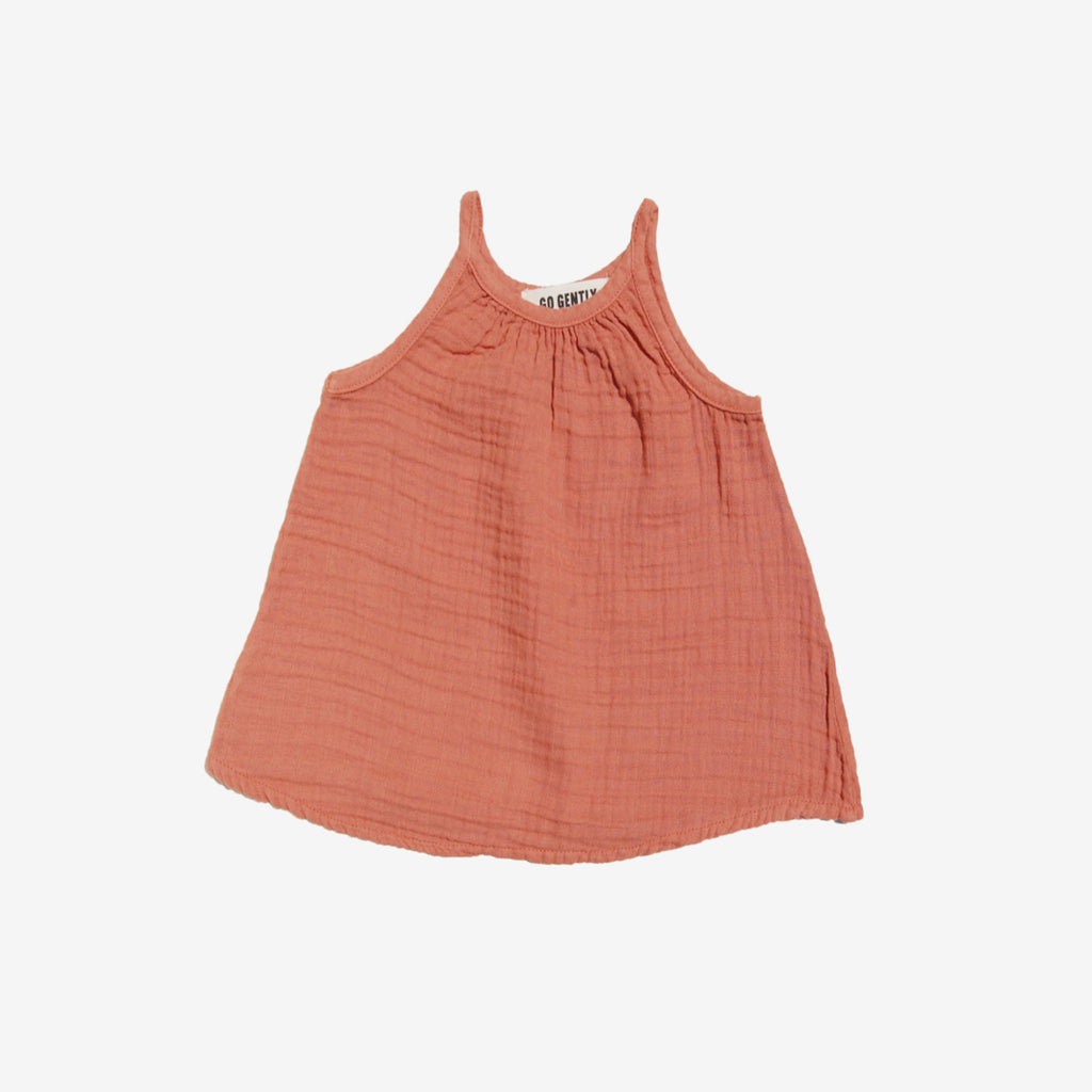 Perfect Summer Gauze Tank - Terracotta