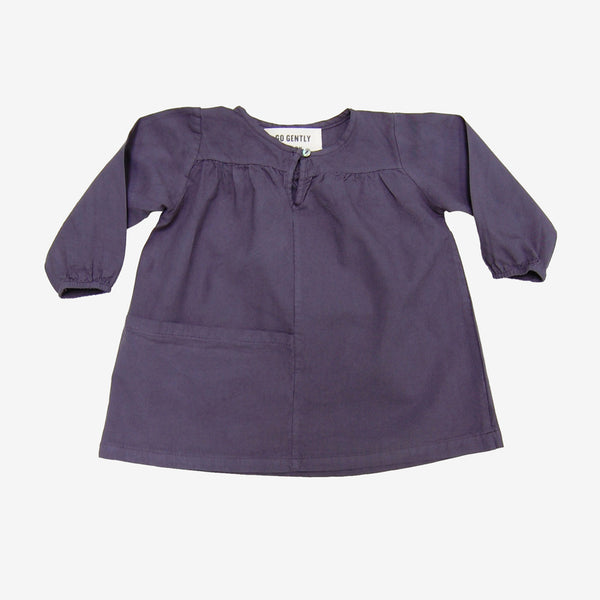 Pocket Smock Dress - Navy