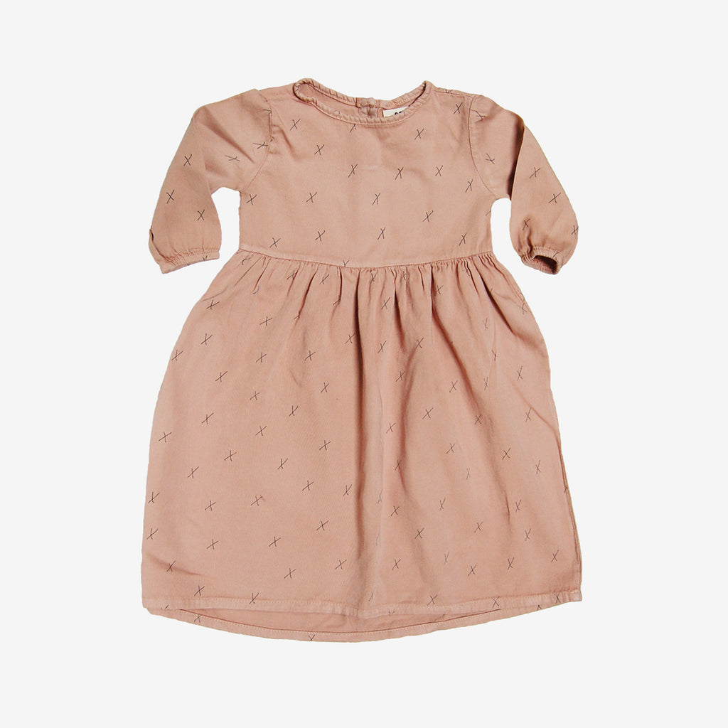 Organic Prairie Dress in Taupe x's