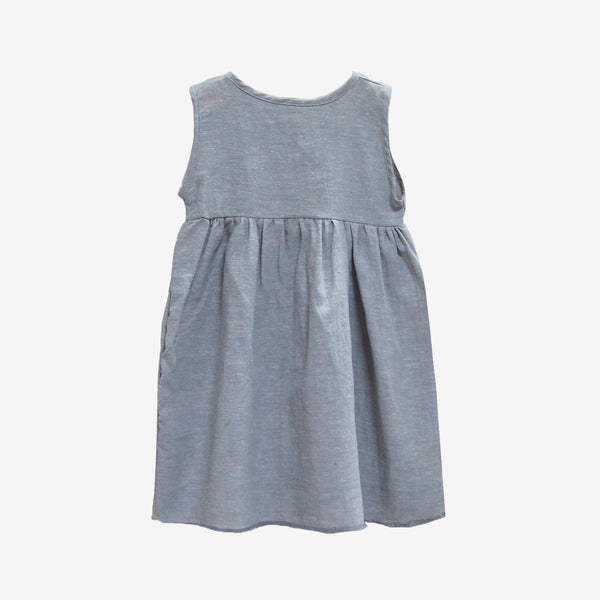 Sleeveless Chambray Prairie Dress